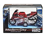Мотоцикл «Modern City» красный, M8538-24, купить