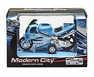 Мотоцикл «Modern City» синий, M8538-24, фото
