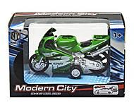 Мотоцикл «Modern City» зеленый, M8538-24, отзывы