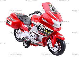 Инерционный спортивный мотоцикл для детей, 6698, купить