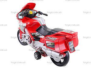 Инерционный спортивный мотоцикл для детей, 6698, отзывы