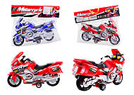 Инерционный спортивный мотоцикл для детей, 6698