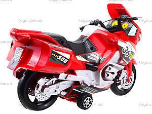 Инерционный спортивный мотоцикл для детей, 6698, цена