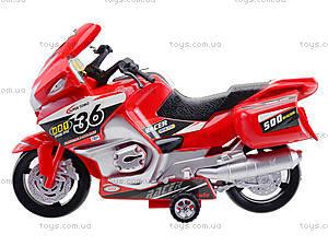Инерционный спортивный мотоцикл для детей, 6698, детские игрушки