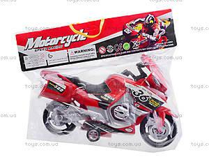 Инерционный спортивный мотоцикл для детей, 6698, магазин игрушек
