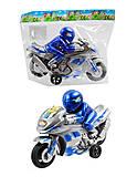 Инерционная игрушка мотоцикл, JY999, фото