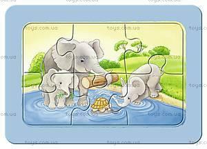 Мои первые пазлы Ravensburger «Обезьянка, слон и лев», 06574R, фото