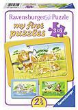 Мои первые пазлы Ravensburger «Обезьянка, слон и лев», 06574R, купить