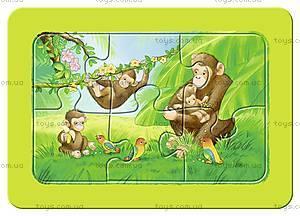 Мои первые пазлы Ravensburger «Обезьянка, слон и лев», 06574R, цена