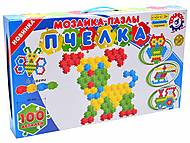 Мозаика-пазл «Пчелка» (100 элементов), 1035, детский