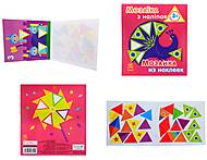 Мозаика из наклеек «Треугольники», К166011У, детские игрушки