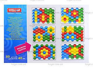 Мозаика для детей 50 деталей, 010117, детские игрушки