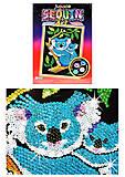 Детская мозаика блестками «Коала», 0712-KSG, фото