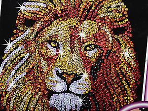 Мозаика блестками «Лев», 1207-KSG, фото
