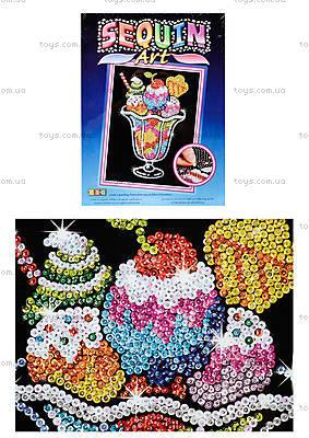 Мозаика с блестками «Мороженое», 1305-KSG