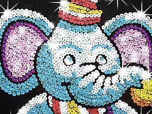 Детская мозаика блестками «Слоник», 0709-KSG, купить