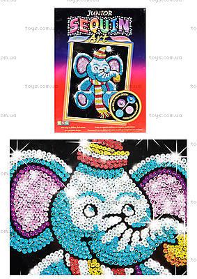 Детская мозаика блестками «Слоник», 0709-KSG