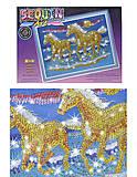 Мозаика блестящими стикерами «Лошади», 1026-KSG