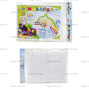 Мозаика с круглыми фишками, 60 штук, 30-015
