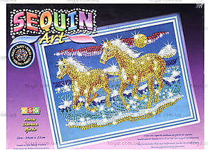 Мозаика из блесток и бусин Конь, 0620-KSG, купить