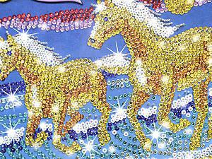 Мозаика из блесток и бусин Конь, 0620-KSG, фото