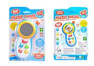 Музыкальный телефон, 2 вида, CY1013-3C, детские игрушки