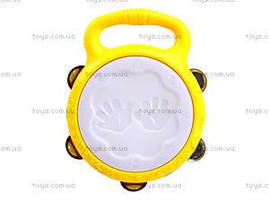 Музыкальная игрушка для детей «Бубен», 1011, детские игрушки