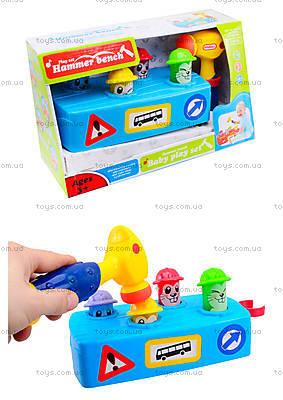 Музыкальная детская игрушка «Молоточек и скамья», 589