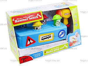 Музыкальная детская игрушка «Молоточек и скамья», 589, отзывы