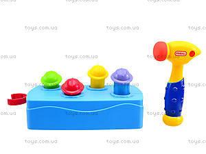 Музыкальная детская игрушка «Молоточек и скамья», 589, цена