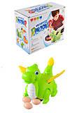 Динозавр музыкальный, 2 цвета (едет, несет яйца), V77C