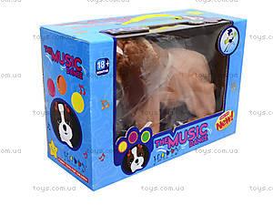 Музыкальная игрушка «Щенок на поводке», H898-9, детские игрушки