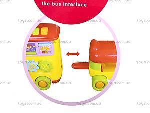 Музыкальная каталка «Школьный автобус», LM2143, фото