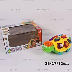 Музыкальная игрушка-сортер «Черепашка», RK-001