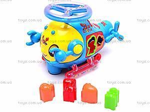 Музыкальная игрушка-сортер «Краб», 3192
