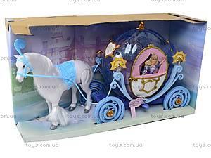 Музыкальная карета, с куклой, 28905B, отзывы