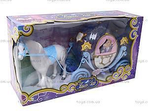 Музыкальная карета, с куклой, 28905B