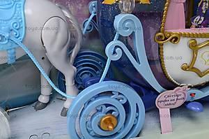Музыкальная карета, с куклой, 28905B, детские игрушки