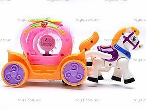 Музыкальная карета, с лошадкой, 6633, фото