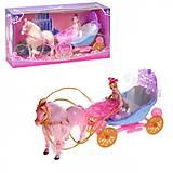 Музыкальная карета с лошадкой и куклой, 28922В, фото