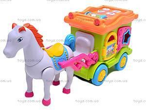 Музыкальная карета с лошадью, 00512