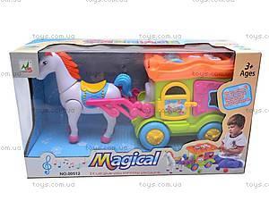 Музыкальная карета с лошадью, 00512, игрушки