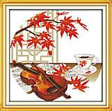 Музыкальная «Осенняя музыка» для вышивки, J012, фото