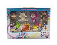 """Музыкальная карусель """"Babe Bed Bell: обезьянки и мишки"""", 3004/6/7, доставка"""