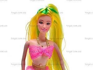 Музыкальная кукла-русалка с ребенком, 170-1, цена