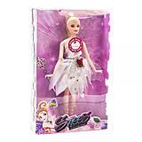 Музыкальная кукла с крыльями «Фея» в белом платье, 632A, набор