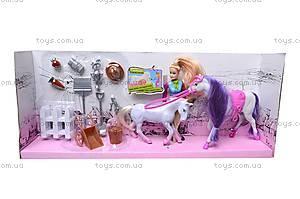 Музыкальная лошадка с куклой, 5566-3, фото