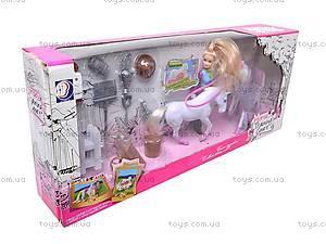 Музыкальная лошадка с куклой, 5566-3