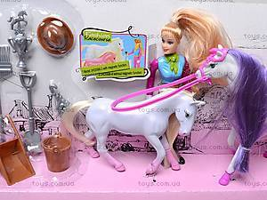 Музыкальная лошадка с куклой, 5566-3, цена
