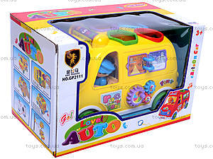Музыкальная машина-сортер, GP2111, детский